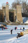 Skaters at the Peterborough Lift Lock