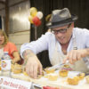 Food Network's Celebrity Chef David Adjey judges tarts at the 2017 Butter Tart Tour Taste-Off