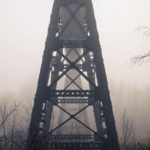 Doube's Trestle Bridge in Fog - Justen Soule