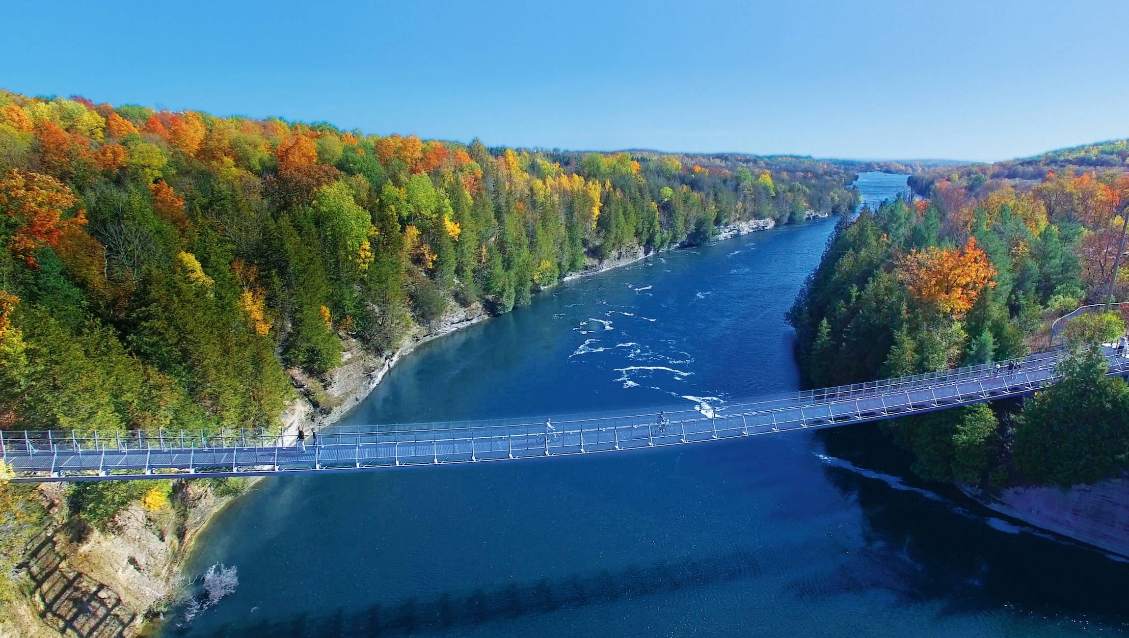 Ranney Gorge Suspension Bridge - Photo Courtesy of Northumberland Tourism