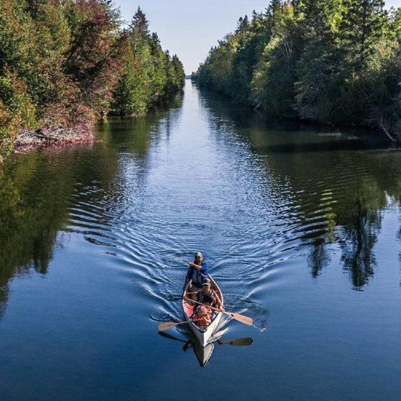Canoeist on the Trent-Severn Waterway