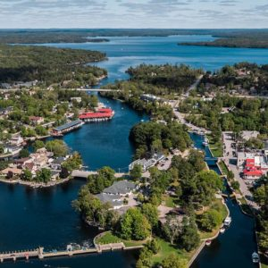 Aerial photo of bobcaygeon