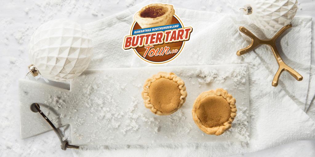 butter tart tour winter-themed banner