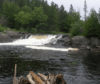 View of waterfall at Burnt River