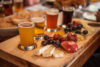 Flight of local craft beers at Canoe and Paddle Restaurant in Lakefield