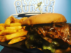 Zeus Burger with fries from Olympus Burger in Port Hope