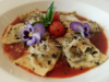 Spinich and ricotta cheese ravioli from the Woodland Inn in Cobourg