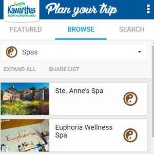Trip Planner - Spas
