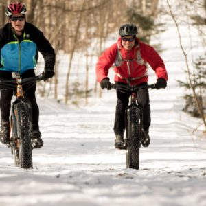 Fat bike winter cycling