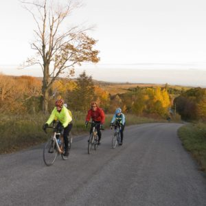 Cyclists touring Northumberland County