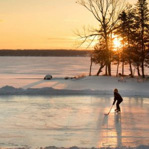 Pond Hockey Kawartha Lakes by Fred Thornhill