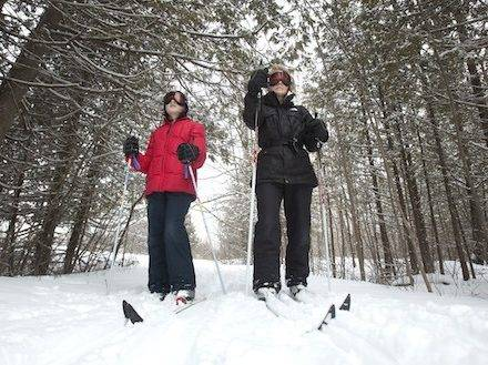 Cross country skiers on trails in the CIty of Kawartha Lakes