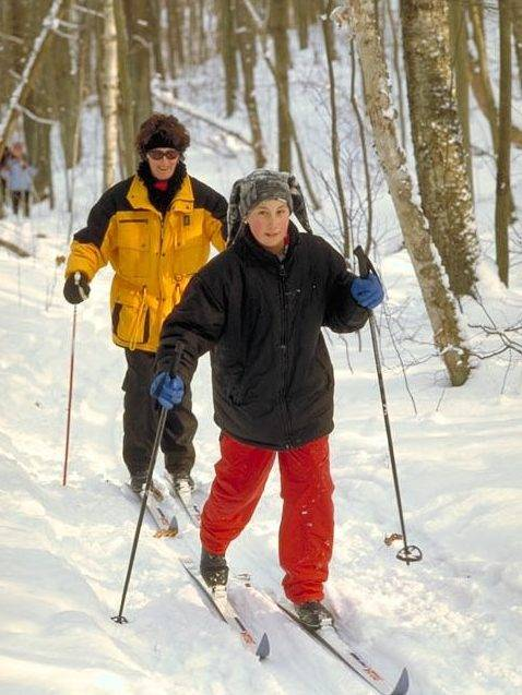 Skiers at Northumberland County Forest Trails