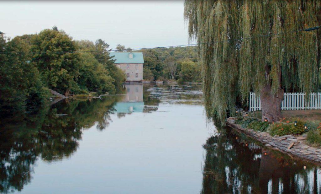 View down the Trent-Severn Waterway in Hastings