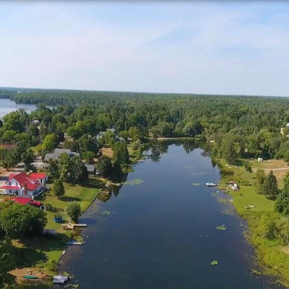 Aerial view of Coboconk