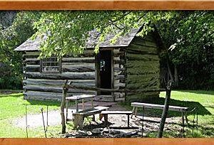 David Fife's original cabin now at Lang Pioneer Village Museum