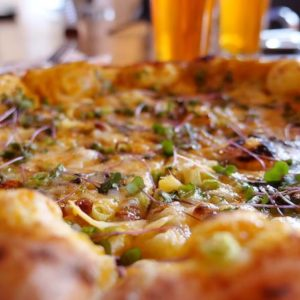 Vegetarian pizza from the Publican House Brew Pub