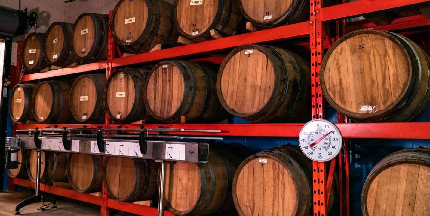 Persian Empire Distillery Barrel Storage - Photo by Justen Soule