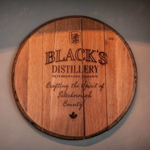 Kawarthas Northumberland - Blacks Distillery Barrel Lid - By Justen Soule