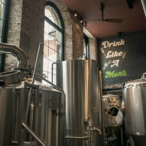 Inside the brewery at Pie Eyed Monk in Lindsay. Photo by Justen Soule.