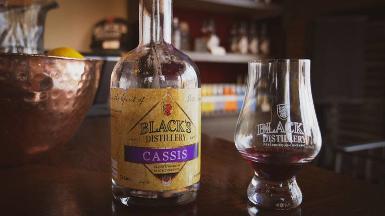 Black currant cassis from Black's Distillery