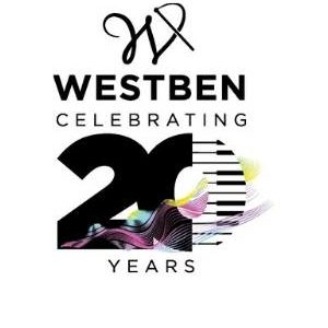 Westben Logo – 20th anniversary – tall