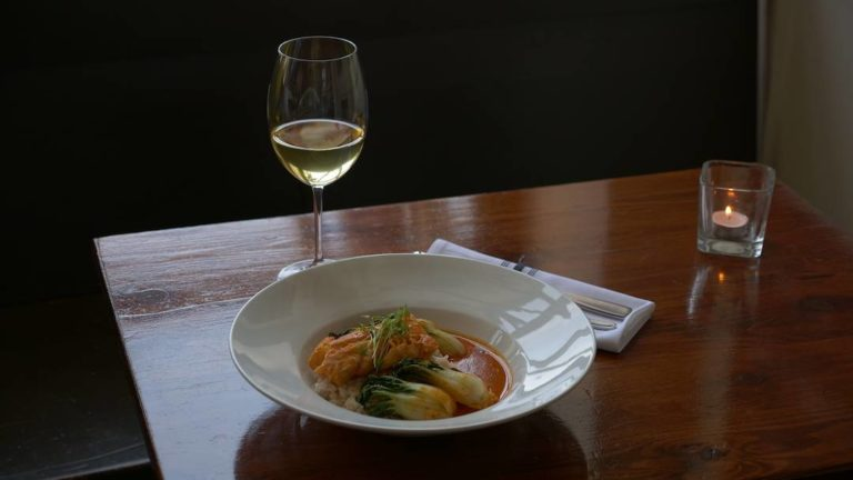 Red curry cod dish at the Social