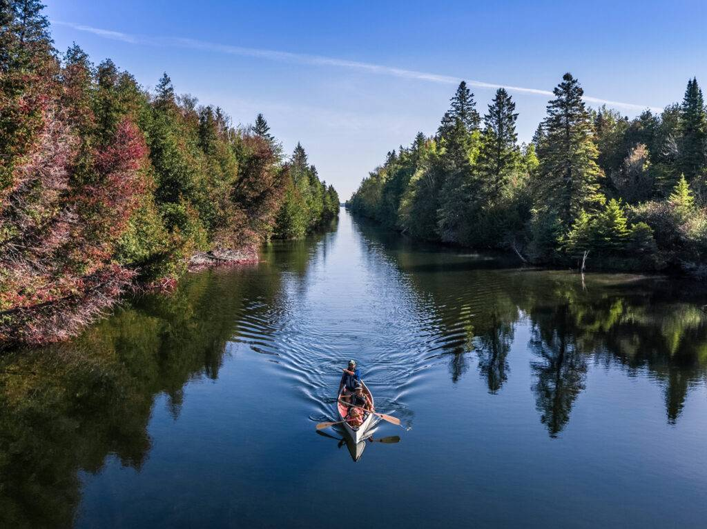 Paddlers at Balsam Canal along Trent-Severn Waterway