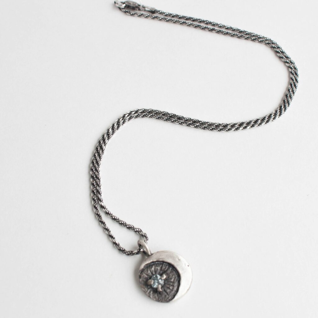 Silver moon necklace by the Inspired I