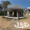 Exterior of the General Store at Kawartha Settlers' Village with 360 logo in lower right corner