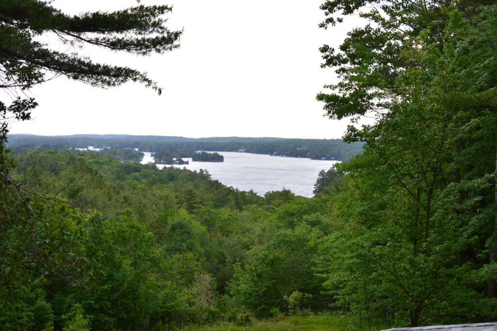 View of Stony Lake from a high lookout point